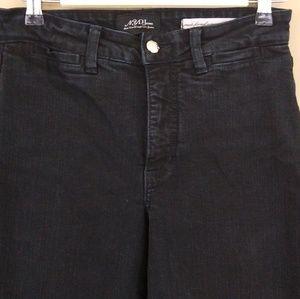 NYDJ High Rise Wide Leg Jeans Black Sz 6